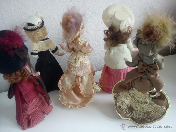 Muñecas Porcelana: ANTIGUA Y MUY PRECIOSA COLECION DE 5 MONECAS DE PORCELANA ARTICULADAS LAS ROPAS ORIGINALES ANOS 40, - Foto 5 - 42781389