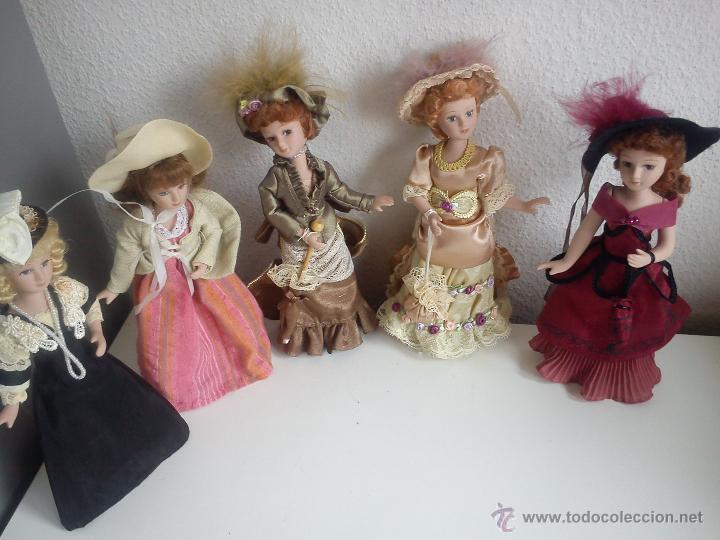 Muñecas Porcelana: ANTIGUA Y MUY PRECIOSA COLECION DE 5 MONECAS DE PORCELANA ARTICULADAS LAS ROPAS ORIGINALES ANOS 40, - Foto 7 - 42781389