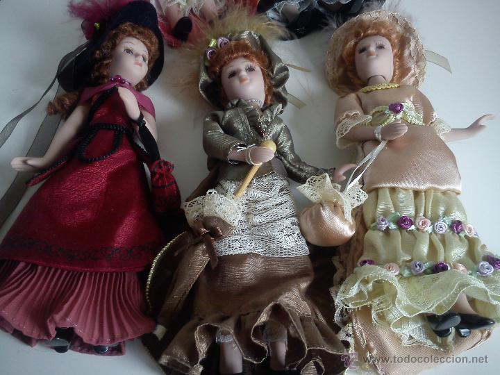 Muñecas Porcelana: ANTIGUA Y MUY PRECIOSA COLECION DE 5 MONECAS DE PORCELANA ARTICULADAS LAS ROPAS ORIGINALES ANOS 40, - Foto 10 - 42781389
