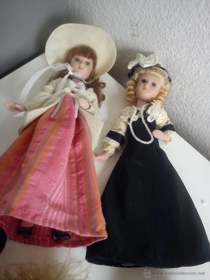Muñecas Porcelana: ANTIGUA Y MUY PRECIOSA COLECION DE 5 MONECAS DE PORCELANA ARTICULADAS LAS ROPAS ORIGINALES ANOS 40, - Foto 13 - 42781389