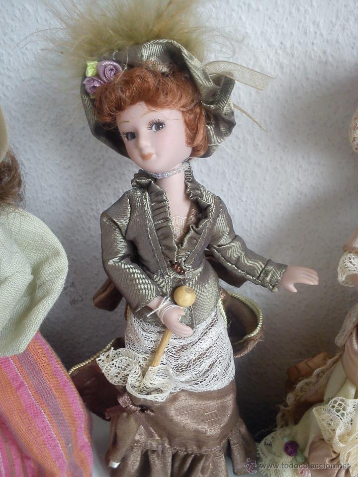Muñecas Porcelana: ANTIGUA Y MUY PRECIOSA COLECION DE 5 MONECAS DE PORCELANA ARTICULADAS LAS ROPAS ORIGINALES ANOS 40, - Foto 15 - 42781389