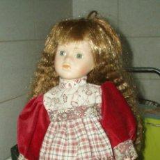 Muñecas Porcelana: BONITA MUÑECA CON LA CARA,MANOS Y PIES DE PORCELANA OJOS DE CRISTAL. Lote 42937243