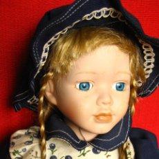 Muñecas Porcelana: PRECIOSA MUÑECA DE PORCELANA. Lote 43015005