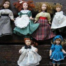 Muñecas Porcelana: MUÑECA DE PORCELANA LOTE DE 5 MUÑECAS ANTIGUAS TODO EL CUERPO ES DE PORCELANA. Lote 43608212