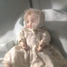 Muñecas Porcelana - pequeño bebe de porcelana rosada años 90 - 43929439