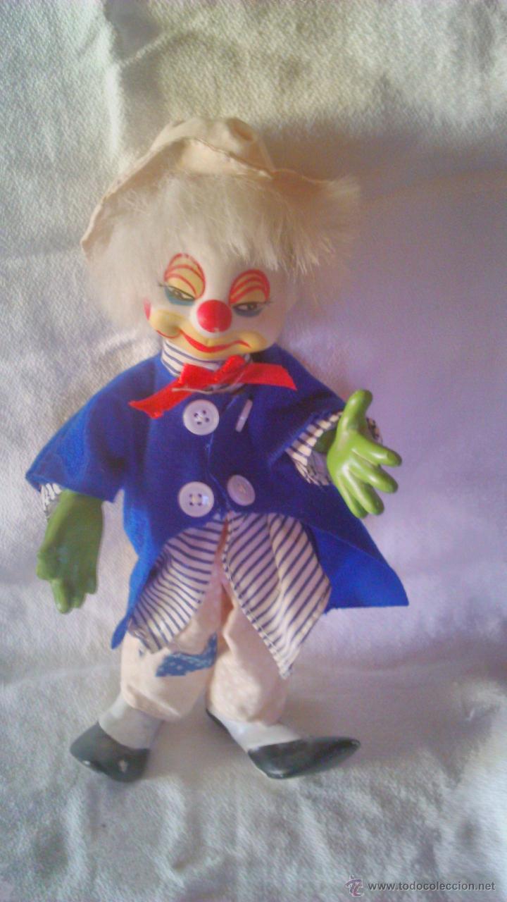 Muñecas Porcelana: Bonito payaso de porcelana con alambres en el interior para mover piernas y brazos. - Foto 2 - 44064111