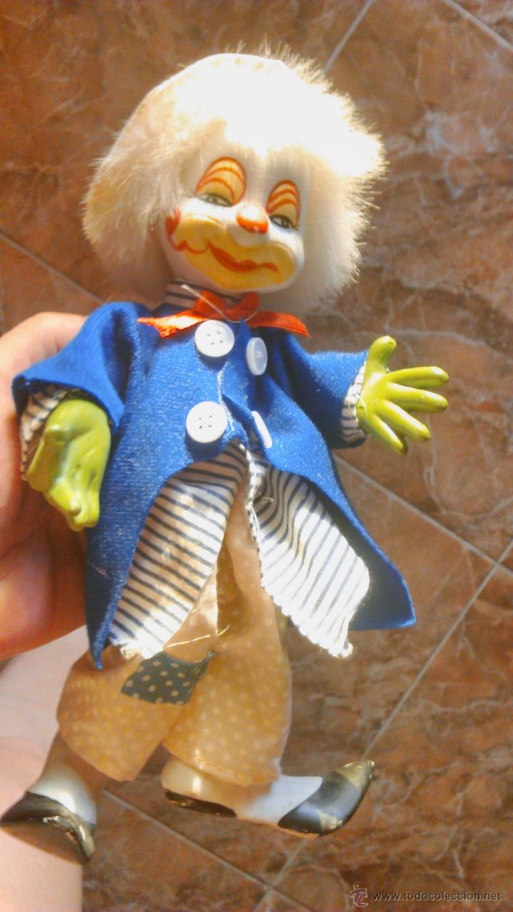 Muñecas Porcelana: Bonito payaso de porcelana con alambres en el interior para mover piernas y brazos. - Foto 5 - 44064111