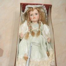 Muñecas Porcelana: MUÑECA DE PORCELANA 50 CM TOTALMENTE HECHA A MANO. Lote 44344429