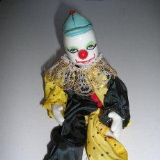 Muñecas Porcelana: COLECCIÓN 6 PAYASOS FABRICADOS EN PORCELANA Y TELA (AÑOS 80).. Lote 44625486