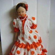 Muñecas Porcelana: BONITA MUÑECA SEVILLANA EN PIEDRA CARA,BRAZOS Y PIERNAS. Lote 45097152