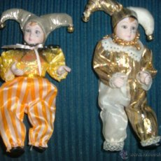 Muñecas Porcelana: 2 ARLEQUINES DE PORCELANA VINTAGE. Lote 45188289