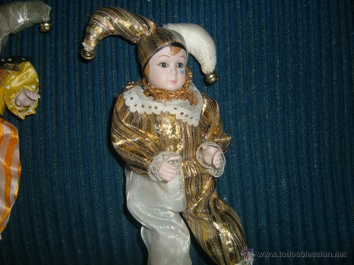 Muñecas Porcelana: 2 Arlequines de porcelana vintage - Foto 3 - 45188289