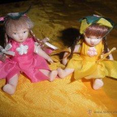 Muñecas Porcelana: 2 DUENDES. MUÑECAS DE PORCELANA TOTALMENTE ARTICULADAS . 10 CM *. Lote 45315031