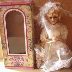 Muñecas Porcelana: MUÑECA DE PORCELANA----PORCELAIN DOLL. Lote 46083236