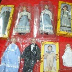 Muñecas Porcelana: MUÑECAS DE PORCELANA ,FAMILIA COMPLETA PARA CASAS DE MUÑECAS. Lote 46119291