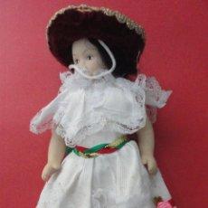 Muñecas Porcelana: MUÑECA PORCELANA TRAJE TÍPICO (24 CM DE LARGO). Lote 46347470