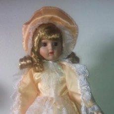 Muñecas Porcelana: PRECIOSA MUÑECA REBECCA PORCELANA AÑOS 70, EN SU CAJA ,NUEVA. Lote 46403234