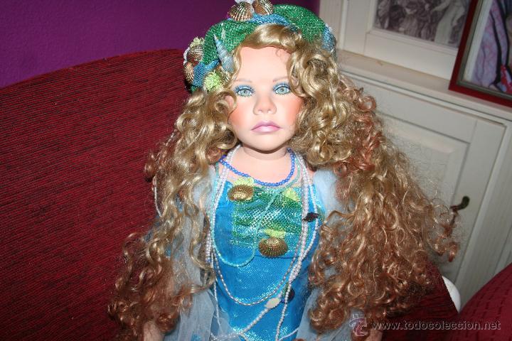 Muñecas Porcelana: preciosa muñeca de porcelana sirena - Foto 3 - 48076428