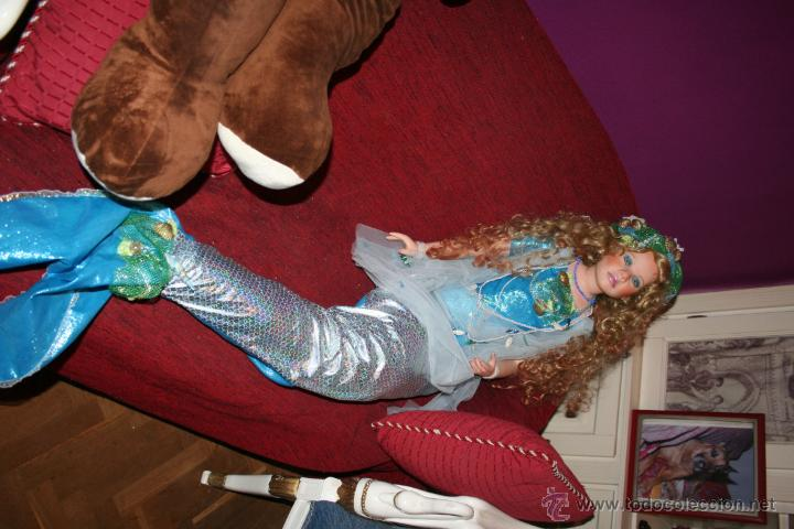 Muñecas Porcelana: preciosa muñeca de porcelana sirena - Foto 5 - 48076428