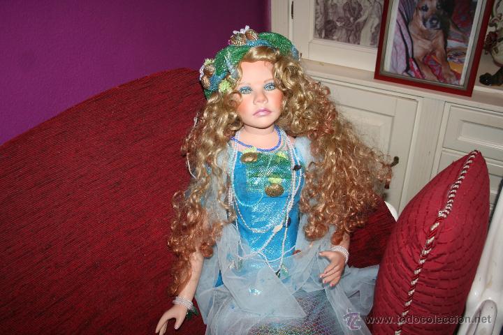 Muñecas Porcelana: preciosa muñeca de porcelana sirena - Foto 16 - 48076428
