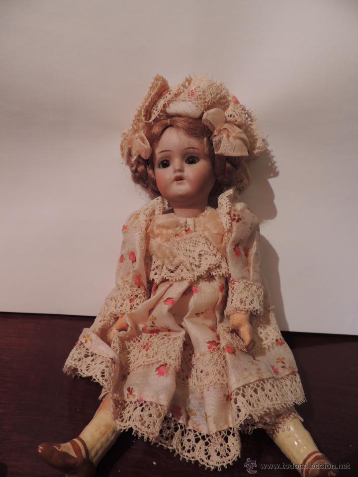 Muñecas Porcelana: IMPORTANTE MUÑECA DE PORCELANA O BISCUIT CON CUERPO DE PAPIER MACHE - Foto 7 - 47513822