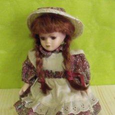Muñecas Porcelana: MUÑECA PORCELANA CON TRENZAS - AÑOS 50/60. Lote 47754721