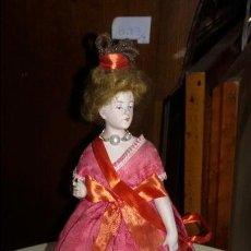 Muñecas Porcelana: MUÑECA DE BISCUIT DE PORCELANA ANTIGUA CON CUERPO TAMBIEN DE CERAMICA. Lote 48303293