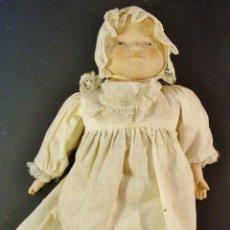 Muñecas Porcelana: BEBÉ EN PORCELANA Y TRAPO. HOLANDA. AÑOS 60-70.. Lote 48382750