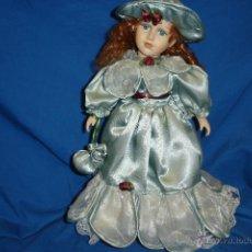 Muñecas Porcelana: MUÑECA DE PORCELANA Y TRAPO ESTILO VICTORIANO DE LOS AÑOS 80. Lote 48909408