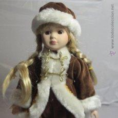 Muñecas Porcelana: MUÑECA DE PORCELANA, CON VESTIDO DE PORCELANA Y GORRO 30CM, CUÑADA, -REF3500- D. Lote 49100851