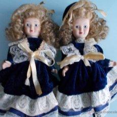 Muñecas Porcelana: MUÑECAS DE PORCELANA GEMELAS, BISCUIT. Lote 49487964