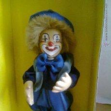 Muñecas Porcelana: PAYASO DE PORCELANA PINTADO A MANO, CLOWN WORLD, MARCA SIMBA. Lote 49692619