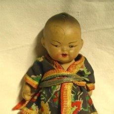 Muñecas Porcelana: MUÑECO BEBÉ ORIENTAL DE PORCELANA, MED. 15 CM. Lote 49752758