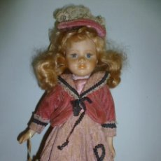 Muñecas Porcelana: ANTIGUA MUÑECA EN CABEZA PORCELANA, BOCA CERRADA.. Lote 49959914