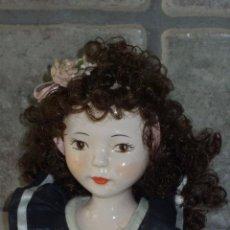 Muñecas Porcelana: BUSTO , ANTIGUA FIGURA DE PORCELANA. MUÑECA. Lote 284102418
