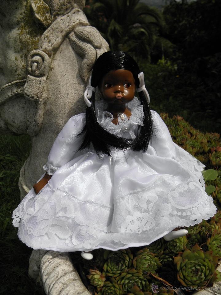 Muñecas Porcelana: Muñeca negrita de porcelana de 28 cm - Foto 2 - 50683003
