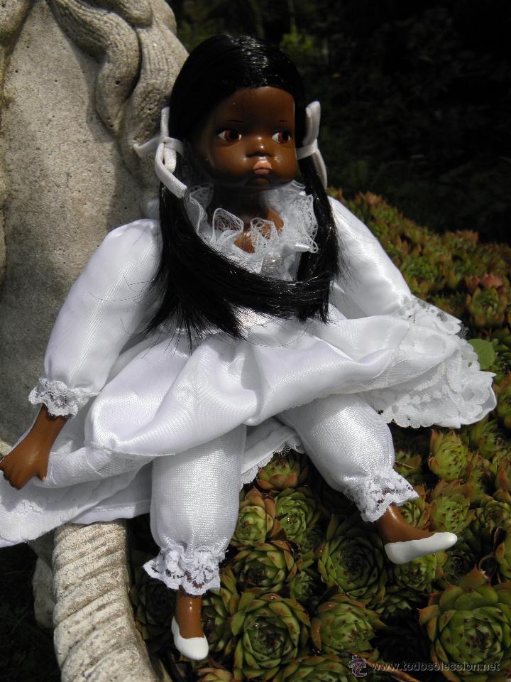 Muñecas Porcelana: Muñeca negrita de porcelana de 28 cm - Foto 3 - 50683003