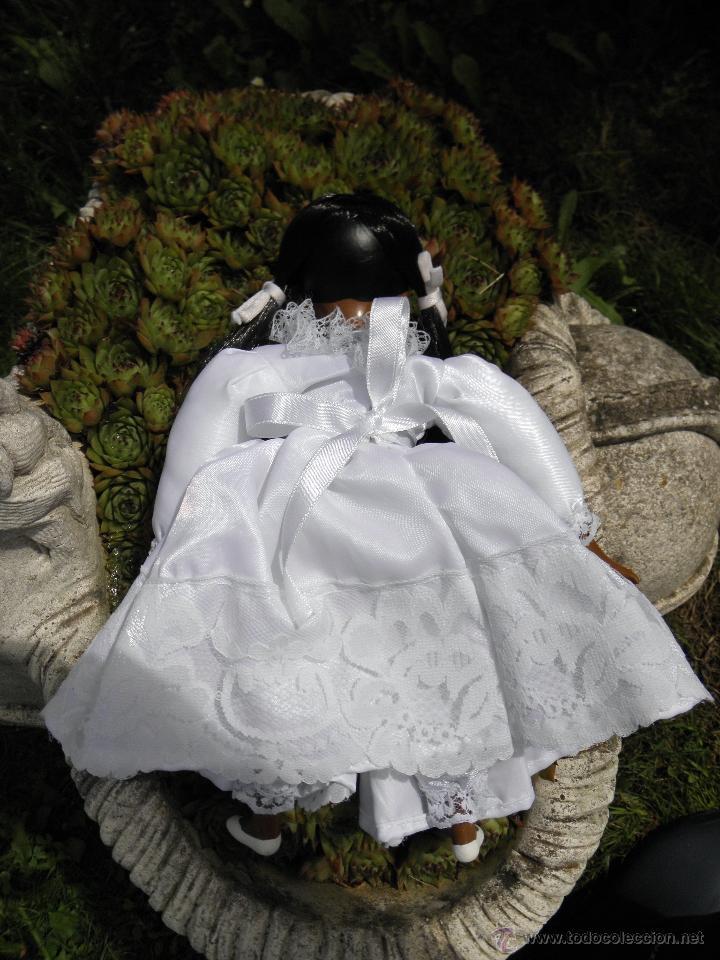 Muñecas Porcelana: Muñeca negrita de porcelana de 28 cm - Foto 4 - 50683003