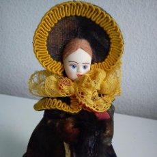 Muñecas Porcelana: MONECA RUCIA PARA COLECION CABEZA DE PORCELANA ROPAS ORIGINALES ,SELADA NOTEWHIH NPOWBICEN MAD RUSSI. Lote 51619620