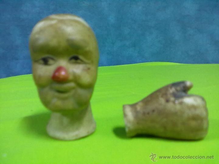 CABEZA Y MANO MUÑECO PORCELANA (Juguetes - Muñeca Extranjera Moderna - Porcelana)