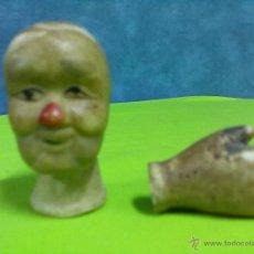 Muñecas Porcelana: CABEZA Y MANO MUÑECO PORCELANA. Lote 131789050