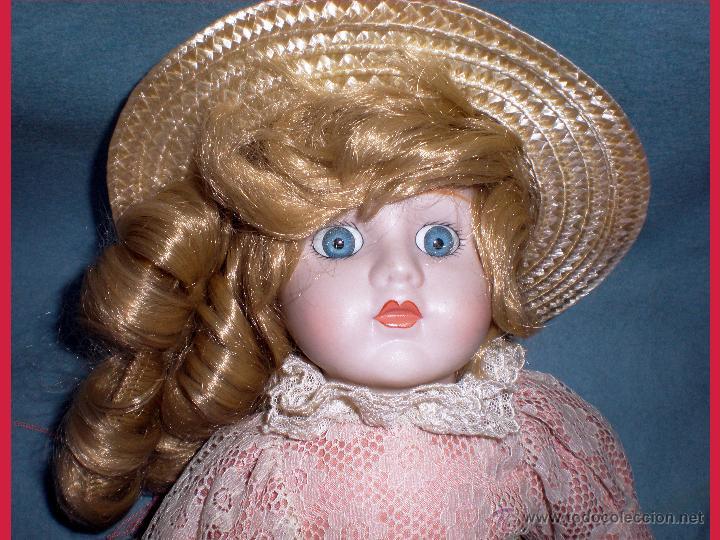 Muñecas Porcelana: Cabecita cob sombrero. - Foto 2 - 53044843