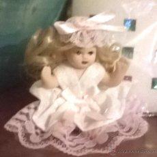 Muñecas Porcelana: MUÑEQUITA DE PORCELANA CON PELO , MUY LINDA. PARA CASA MUÑECAS. Lote 53422758