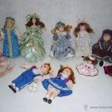 Muñecas Porcelana: LOTE 11 MUÑECAS DE PORCELANA-COLECCIÓN-PRECIOSAS.-NAVIDAD-COMUNIÓN. Lote 53767452