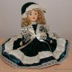 Muñecas Porcelana: MUÑECA DE PORCELANA - ARTICULADA BRAZOS Y PIERNAS.. Lote 53843911