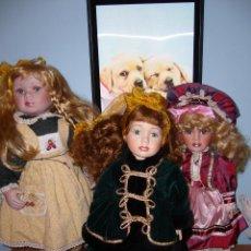 Muñecas Porcelana: LOTE-MUÑECA PORCELANA-PRECIO UNIDAD-DE MARCA-PRECIOSAS-TAMAÑO MEDIANO-LUCIDAS-NUEVAS-ASI-NAVIDAD-. Lote 53945040