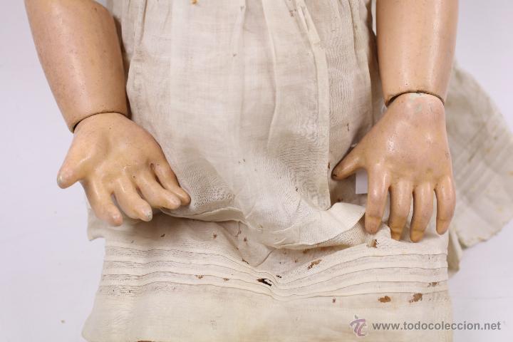 Muñecas Porcelana: MUÑECA CON CABEZA DE PORCELANA, EN BUEN ESTADO. MARCA EN LA NUCA. 56CM ALTURA TOTAL - Foto 3 - 54189913