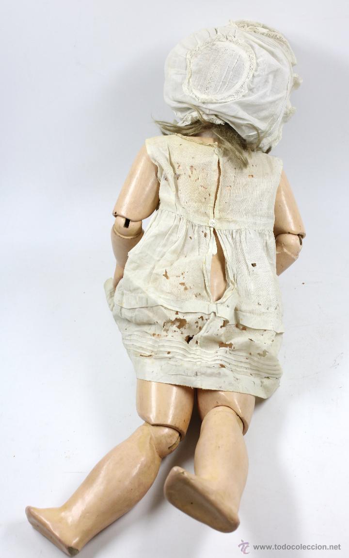 Muñecas Porcelana: MUÑECA CON CABEZA DE PORCELANA, EN BUEN ESTADO. MARCA EN LA NUCA. 56CM ALTURA TOTAL - Foto 5 - 54189913