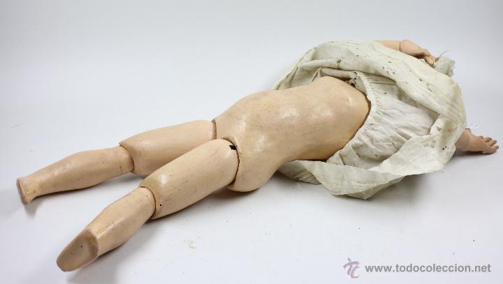 Muñecas Porcelana: MUÑECA CON CABEZA DE PORCELANA, EN BUEN ESTADO. MARCA EN LA NUCA. 56CM ALTURA TOTAL - Foto 6 - 54189913