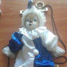 Muñecas Porcelana: PAYASO CON CARA DE PORCELANA Y CON COLUMPIO. Lote 133717625